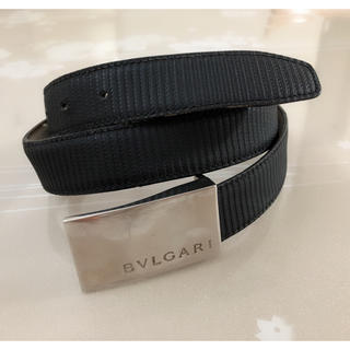 ブルガリ(BVLGARI)のC056 ブルガリ ベルト メンズ 黒 ブランド シルバー バックル(ベルト)