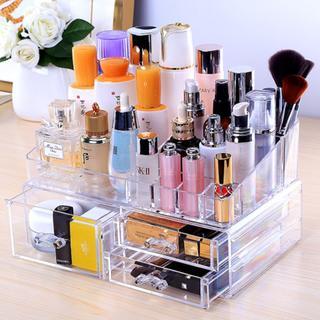 化粧品 収納ボックス メイクケース メイクボックス 大容量 二段式(ケース/ボックス)