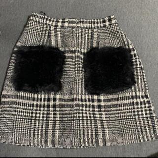 GRL - GRL ファー付ミニタイトスカート