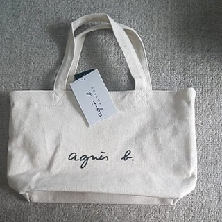 agnes b. - 新品 アニエスベー トートバッグ アイボリー バック