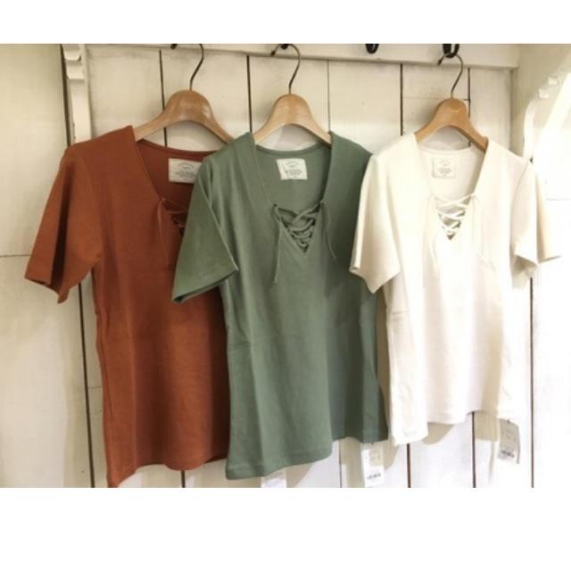 Ungrid(アングリッド)のungrid テレコレースアップTEE レディースのトップス(Tシャツ(半袖/袖なし))の商品写真
