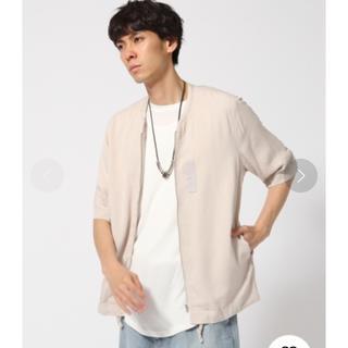 ハレ(HARE)のHARE ノーカラー MA-1シャツ 5分袖(シャツ)