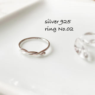 ring No.02♡silver925 結びリング(リング(指輪))