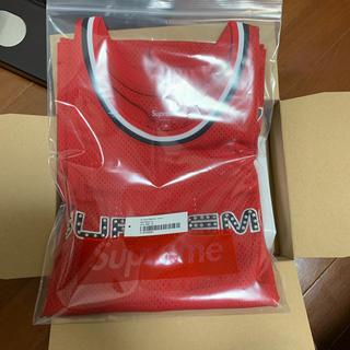シュプリーム(Supreme)のsuperme Rhinestone Basketball Jersey 赤m(タンクトップ)