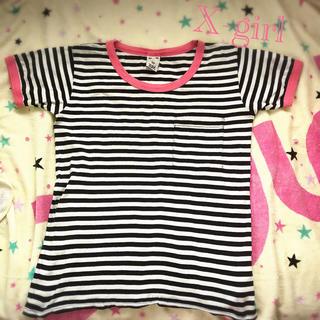 エックスガール(X-girl)のX-girl (エックスガール) ボーダー リンガーTシャツ(Tシャツ(半袖/袖なし))