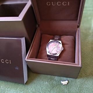 グッチ(Gucci)のGUCCI パンテオン ブラックシェル(腕時計(アナログ))
