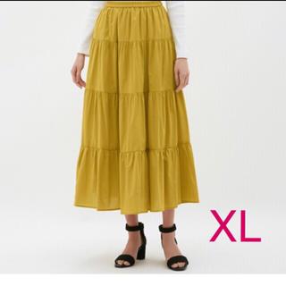 GU - ユニクロ GU ティアード フレア ロング スカート