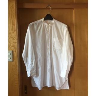 COMOLI - 17ss comoli サイズ0 バンドカラーシャツ ホワイト コモリ