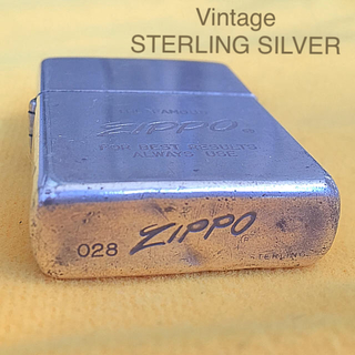 ジッポー(ZIPPO)のZIPPO 希少レア オールド STERLING スターリングシルバー 70s(タバコグッズ)