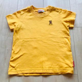 ミキハウス(mikihouse)のミキハウス Tシャツ 黄色 80(Tシャツ)