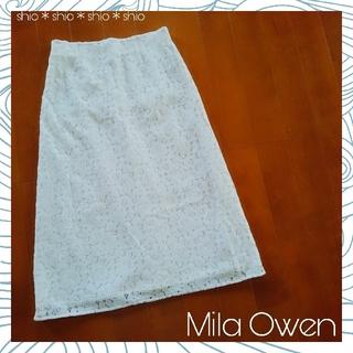 ミラオーウェン(Mila Owen)の《Mila Owen》バックファスナー フラワーレース スカート 1(ロングスカート)