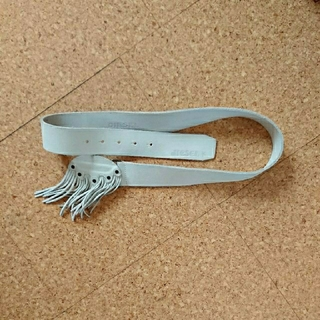 ディーゼル(DIESEL)のDIESEL  新品 皮ベルト 白 size85 (ベルト)