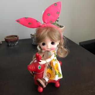 【みー6455様専用】お嬢様ワンピセット(向日葵)(人形)