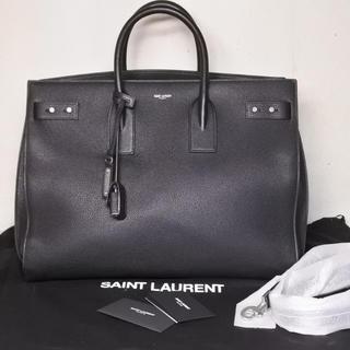 サンローラン(Saint Laurent)のサンローランパリ サック ド ジュール スープル ブラック 新品同様 ラージ(トートバッグ)