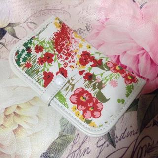 ポールアンドジョー(PAUL & JOE)のPAUL & JOE ティッシュケース付き  花柄  手帳型 ミラー(ミラー)