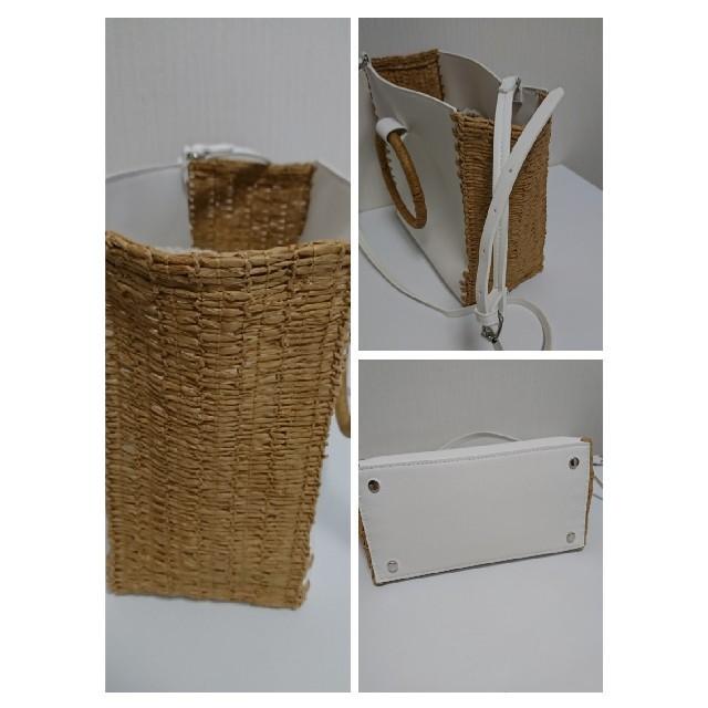 ZARA(ザラ)のZARA サークルハンドル かごバッグ ショルダーバッグ レディースのバッグ(かごバッグ/ストローバッグ)の商品写真
