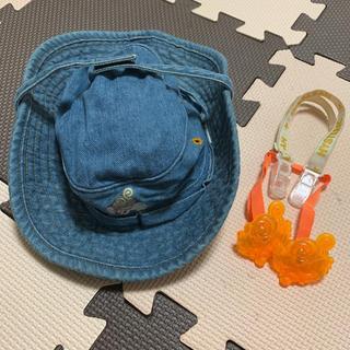 ヒステリックミニ(HYSTERIC MINI)の【Hysteric mini 】2wayデニム帽子 クリップ 3点セット✩(帽子)