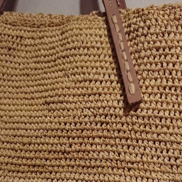 DEUXIEME CLASSE(ドゥーズィエムクラス)のサンアルシデ 未使用 イエロー ラフィア。。 レディースのバッグ(かごバッグ/ストローバッグ)の商品写真