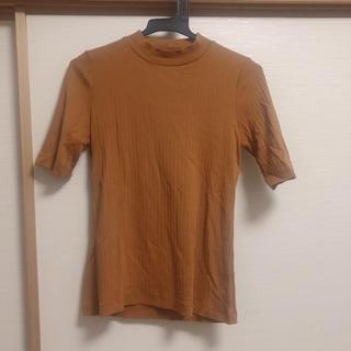 UNIQLO - ユニクロ リブ ハイネック Tシャツ