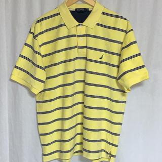 ノーティカ(NAUTICA)の美品 ノーティカ パイル地 半袖ボーダーポロ ビッグシルエット (ポロシャツ)