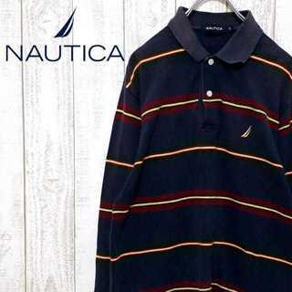 ノーティカ(NAUTICA)の【01-117】ノーティカ ボーダー ポロシャツ マルチカラー マルチボーダー(ポロシャツ)