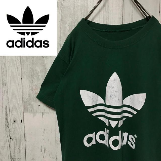 adidas(アディダス)のアディダスオリジナルス☆トレフォイルロゴ プリントロゴ Tシャツ グリーン メンズのトップス(Tシャツ/カットソー(半袖/袖なし))の商品写真