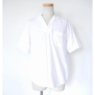COMOLI - 17ss comoli スキッパー半袖シャツ ホワイト コモリ