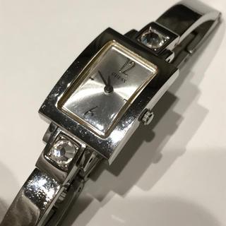 ゲス(GUESS)のゲス GUESS レディース  腕時計 クォーツ   シルバー スクエア(腕時計)