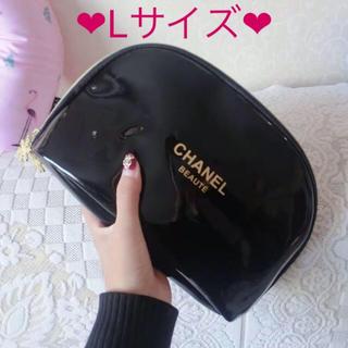 CHANEL - 【新品未使用】CHANELビニールエナメルポーチ ノベルティ Lサイズ