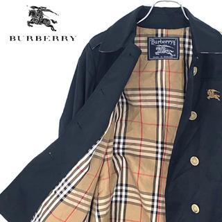 バーバリー(BURBERRY)の送料無料!バーバリー 英国製 正規品 ショートトレンチ ワンポイント刺繍ロゴ(ブルゾン)