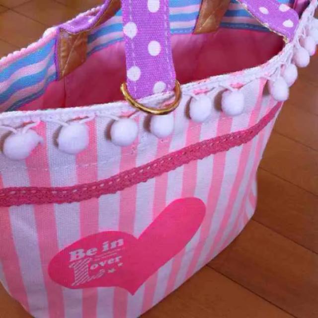 ゆめかわ トートバッグ ハート ピンク 新品 レディースのバッグ(トートバッグ)の商品写真