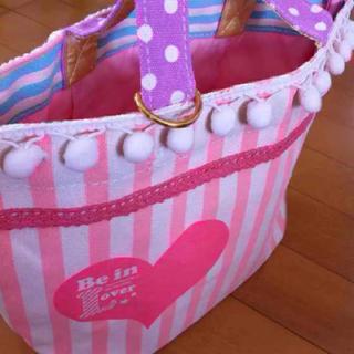 ゆめかわ トートバッグ ハート ピンク 新品(トートバッグ)