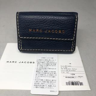 マークジェイコブス(MARC JACOBS)の【未使用】マークジェイコブス  ミニ 財布 三つ折り ネイビー(財布)
