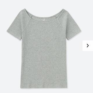 UNIQLO - UNIQLO リブバレエネックTシャツ