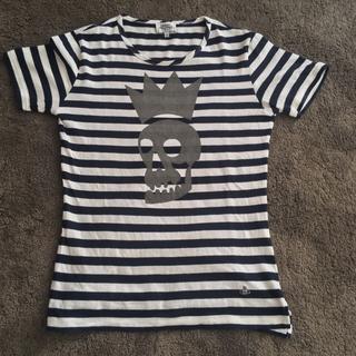 ヴィヴィアンウエストウッド(Vivienne Westwood)のヴィヴィアンウエストウッド Tシャツ ボーダー スカル(Tシャツ/カットソー(半袖/袖なし))