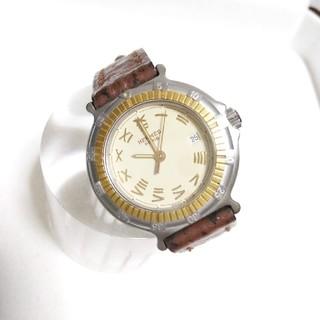 Hermes - 稀少美品 エルメス レディース 腕時計 ダイバー デイト付 純正ベルト