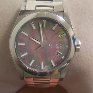 Gucci - 正規品 グッチ時計   パンテオン  ブラックシェル