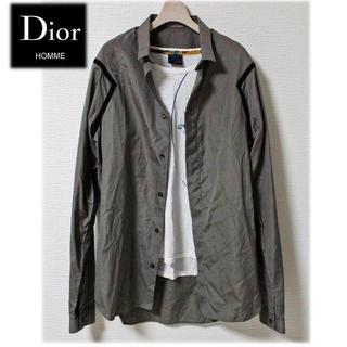 DIOR HOMME - 《ディオール オム》美品 イタリア製 カジュアルシャツ ブラックライン M