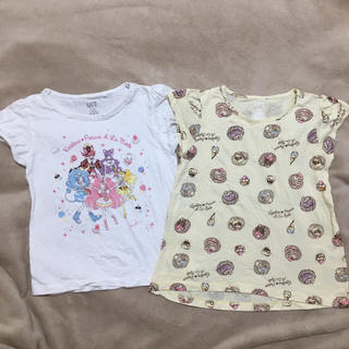 バンダイ(BANDAI)のユニクロ キッズ キラキラプリキュアアラモード Tシャツ 130サイズ 2枚(Tシャツ/カットソー)