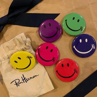 ロンハーマン(Ron Herman)のRonHerman スマイル缶バッジ6個 メルローズ本店限定(ブローチ/コサージュ)