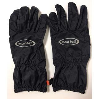 モンベル(mont bell)のモンベル 手袋 グローブ 黒 メンズS(登山用品)