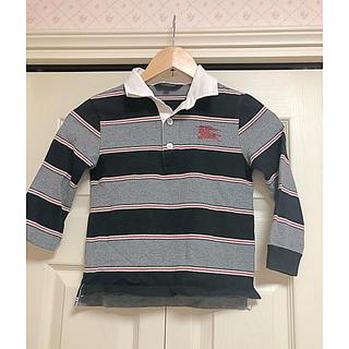バーバリー(BURBERRY)のバーバリー ラガーシャツ ポロシャツ 120 長袖シャツ(Tシャツ/カットソー)