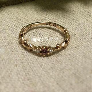 アガット(agete)のagete K10 ダイヤモンド 天然石 リング(リング(指輪))