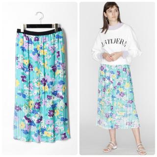 GRACE CONTINENTAL - 美品 フラワープリーツスカート 36