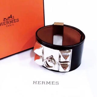 Hermes - HERMES エルメス コリエドシアン 黒×シルバー