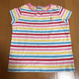 ミキハウス(mikihouse)の80cm ミキハウス リーナちゃん ボーダー 半袖 Tシャツ(シャツ/カットソー)