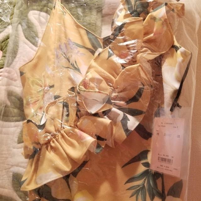 eimy istoire(エイミーイストワール)のアシメ フリルトップス YELLOW レディースのトップス(カットソー(半袖/袖なし))の商品写真
