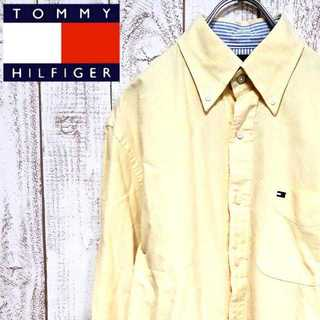 トミーヒルフィガー(TOMMY HILFIGER)の【01-27】トミーヒルフィガー ボタンダウンシャツ BDシャツ フラッグロゴ(シャツ)