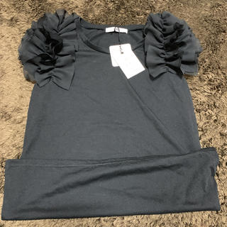 グレイル(GRL)のグレイル GRL フリル袖トップス 新品未使用タグ付き(カットソー(半袖/袖なし))