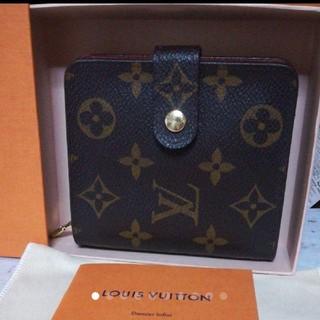 ルイヴィトン(LOUIS VUITTON)の極美品 ルイヴィトン モノグラム コンパクトジップ 折財布 M61667(折り財布)